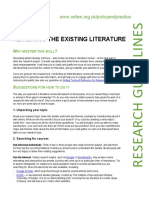 Reviewing the Existing Literature