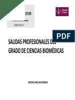 Charla Sobre Salidas Profesionales en El Grado de Ciencias Biomédicas