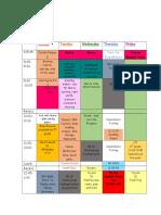 schedule week 4