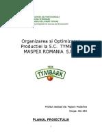 Proiect managementul procesarii si conservarii
