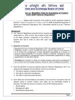 SEBI Consultation Paper on Control