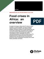 Food Crises in Africa