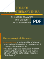 Role of Physiotherapy in Ra