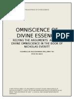 Omniscience Of Divine Essence