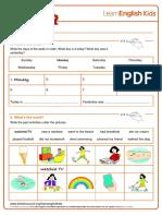 Worksheets Yesterday Trecutul