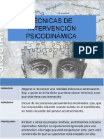 Tecnicas de Intervencion Psicodinamica