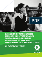 Inclusion of Marginalized Children in Private Unaided Schools:The RTE Act, 2009