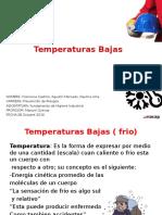temperaturas bajas