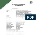 Informe Mensual de Avance de Obra 03-Marz2015