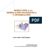 Introducción a La Modelación Matemática y Optimización