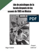 Intervencion de Psicologos de La UNAM Sismos1985