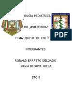 Cirugía Pediatrica Qusite Coledoco