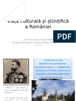 Viata Culturalasistiintifica a Romaniei