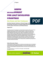 Low-carbon Development for Least Developed Countries