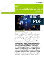 Fit for Purpose? The European External Action Service one year on