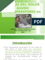 Manejo Del Dolor Postoperatorio en pediatría