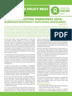 Land Acquisition Ordinance 2014