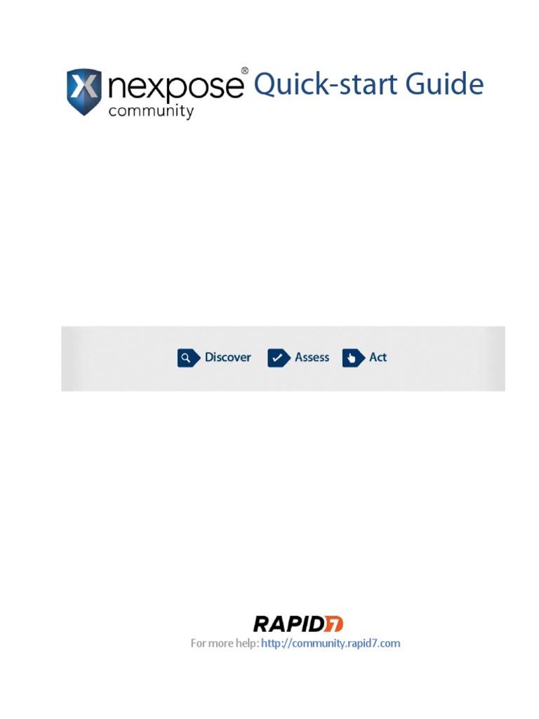 Nexpose Quick Start | Vulnerability (Computing) | Tab (Gui)
