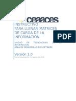 INSTRUCTIVO PARA LLENAR MATRICES DE CARGA DE INFORMACION_Distribuci+¦n recursos_rev4