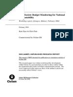 Civil Society Budget Monitoring for National Accountability