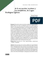 Cartografía de La No-nación Escritura y Oralidad en Las Analfabetas, De Legna Rodríguez Iglesias