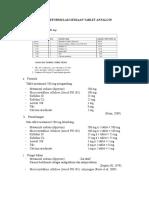 Preformulasi Sediaan Tablet Antalgin