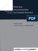 Post-War Reconstruction in Central America
