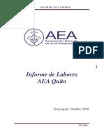 Informe de Labores Centro AEA Quito