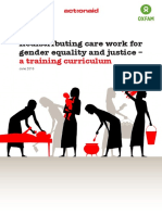 Redistributing Care Work for Gender Equality and Justice