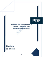 Análisis del Proyecto Ley de Comunas