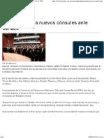 16-03-17 Rinden Protesta Nuevos Cónsules Ante Senado