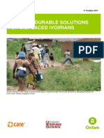 Towards Durable Solutions for Displaced Ivoirians