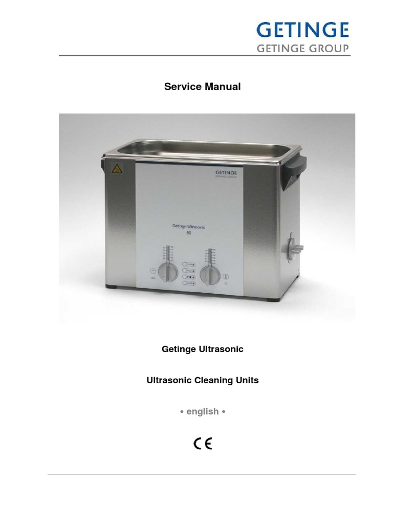 Getinge Ultrasonic Cleaner - Service Manual | Electrostatic Discharge |  Mains Electricity