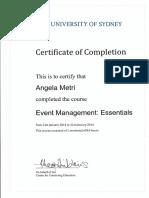 Event Management Cert