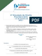 (648724399) Primeiro Simulado de Direito Previdenciário REVISADO ALUNOS SITE