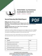 Second Saturday Bird Walk February 2017 Report