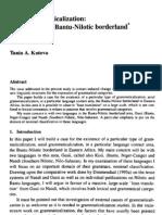 Bantu-Nilotic Borderland & Areal Grammaticalization 2000 Kuteva