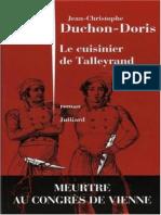 Jean-Christophe Duchon-Doris - Le Cuisinier de Talleyrand