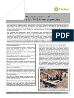 Vulnerability and Socio-Cultural Considerations for PHE in Emergencies
