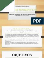 Actividad de Aprendizaje 1 - El Discurso Pedagógico en Actividades de Formación