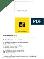 Inscrição « 10 Encontro Internacional de Formação de Professores e 11 FOPIE