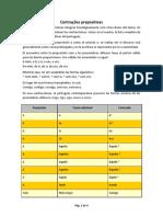 Portugués - Contracciones prepositivas