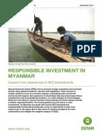 Responsible Investment in Myanmar