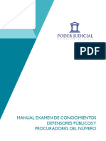 5. Manual Examen Conocimientos Defensores Públicos y Procuradores, Concursos Publicados a Partir Del 14 de Octubre de 2016