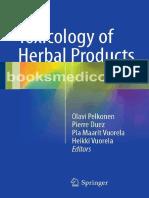 Toxicology of Herbal Products PELKONEN 2017