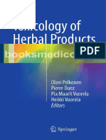 Toxicology of Herbal Products PELKONEN 2017