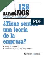 CyH128. Tiene Sentido Una Teoría de La Empresa @Martínez-Echevarría