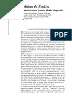 GAGNEBIN, Jeanne. Políticas da estética [entrevista].pdf