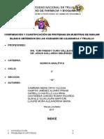 Comparación y Cuantificación de Proteinas en Muestras de Manjar Blanco Obtenidos en Las Ciudades de Cajamarca y Trujillo