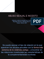 Clase Abuso Sexual e Incesto Psicoterapia III 2011-2012 A